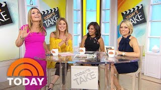 """Savannah Guthrie (who's a former aerobics instructor) is a surprise guest on TODAY's Take, and joins Jenna Bush Hager in demonstrating some moves from the workout class they both attend. But they insist they're not getting smaller in it; in fact, they're always being asked if they're pregnant. """"We're not!"""" Jenna says. """"Don't write in!"""" » Subscribe to TODAY: http://on.today.com/SubscribeToTODAY» Watch the latest from TODAY: http://bit.ly/LatestTODAYAbout: TODAY brings you the latest headlines and expert tips on money, health and parenting. We wake up every morning to give you and your family all you need to start your day. If it matters to you, it matters to us. We are in the people business. Subscribe to our channel for exclusive TODAY archival footage & our original web series.  Connect with TODAY Online!Visit TODAY's Website: http://on.today.com/ReadTODAYFind TODAY on Facebook: http://on.today.com/LikeTODAYFollow TODAY on Twitter: http://on.today.com/FollowTODAYFollow TODAY on Google+: http://on.today.com/PlusTODAYFollow TODAY on Instagram: http://on.today.com/InstaTODAYFollow TODAY on Pinterest: http://on.today.com/PinTODAYSavannah Guthrie And Jenna Bush Hager To America: We're Not Pregnant!  TODAY"""