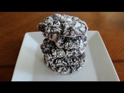 Brownie Crackles (cookies) - how to make brownie cookies