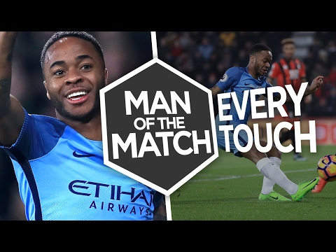 Video: RAHEEM STERLING V B'MOUTH | Every Touch | Man of the Match | B'MOUTH 0-2 City
