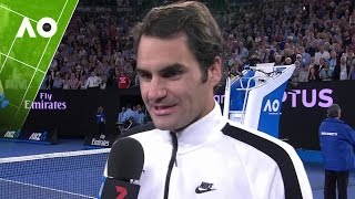 Roger Federer following his progression to the final of the Australian Open 2017.