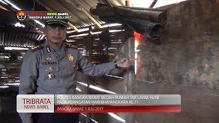 POLRES BANGKA BARAT BEDAH RUMAH WARGA DI HARI BHAYANGKARA KE 71 #TRIBRATA NEWS