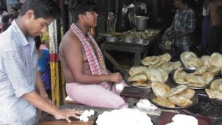 Indian Street Food | Food Lovers are Crazy to Eat Kachori (Garam Puri ) | Kolkata Street Food