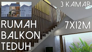 Video Rumah 3kamar Balkon Teduh - Lahan 7x12m [kode 137] MP3, 3GP, MP4, WEBM, AVI, FLV Desember 2018