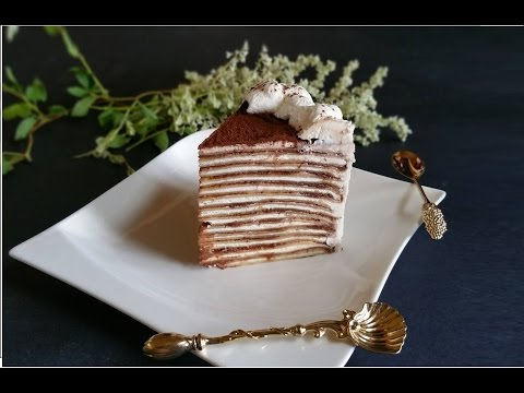 torta di crepes, nutella e mascarpone - la video ricetta