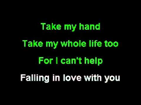 CAN'T HELP FALLING IN LOVE-ELVIS KARAOKE-REMAKE