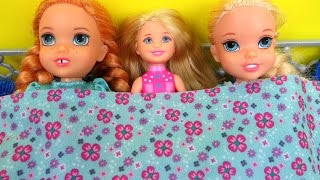 Video SLEEPOVER !  ELSA & ANNA toddlers - Chelsea Barbie MP3, 3GP, MP4, WEBM, AVI, FLV September 2018