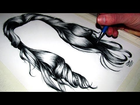 how to draw black hair
