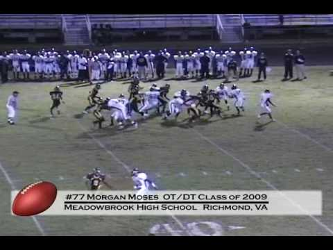 Morgan Moses (#77) High School Highlights 2008 video.