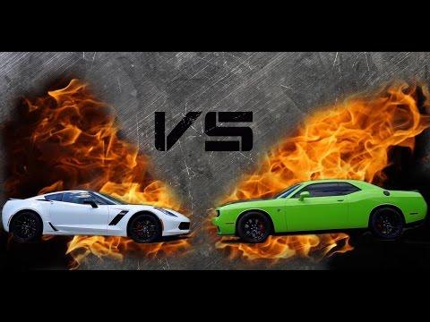 corvette c7 z06 vs dodge challenger hellcat