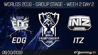 EDG vs ITZ - World Championship 2016 - Group Stage Week 2 Day 2