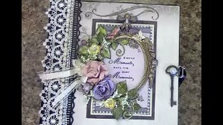 Free step by step tutorial on how to make this 8 x 8 mini album using Designs by Shellie Tranquil Gardens paper collection - for beginners or seasoned crafte...
