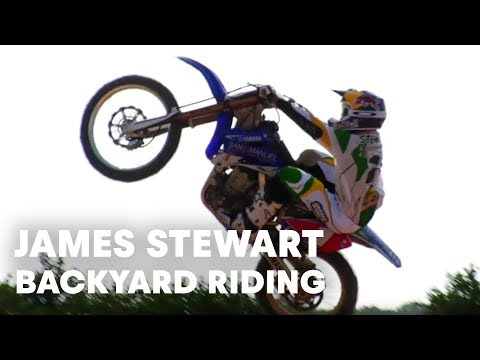 james stewart backyard riding session!
