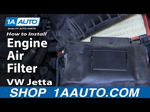How To Install Replace Engine Air Filter 1.8T 2000-05 VW Jetta and Golf
