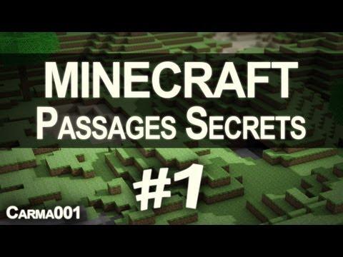 Minecraft – Tutoriel : Passages secrets avec les pistons FR [HD]
