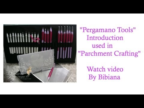 pergamano - More info @ my Blog: http://stampingwithbibiana.blogspot.com Basic Introduction on how to use the
