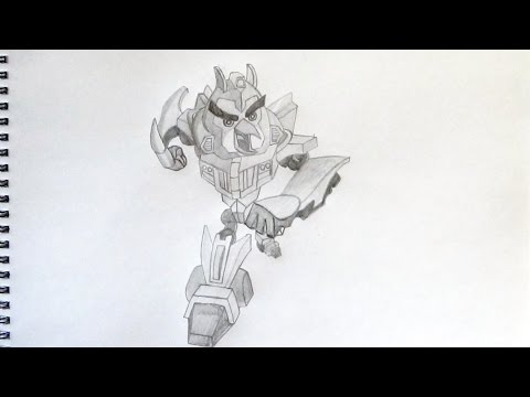 How To Draw Angry Birds Transformers Chuck As Bumblebee