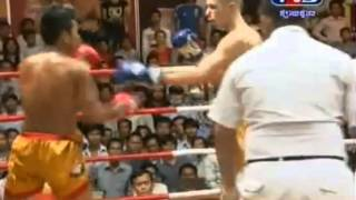 TV 3 Khmer Boxing Roeung Sophorn Vs French  05-01-2014