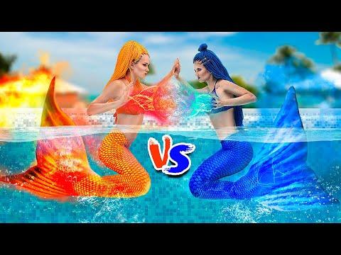 Feuer vs Eis Challenge - Feurige Meerjungfrau vs Eisige Meerjungfrau
