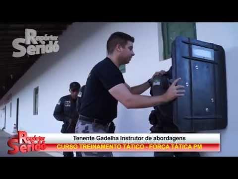 Tenente Gadelha instrutor de abordagens - Treinamento em Currais Novos