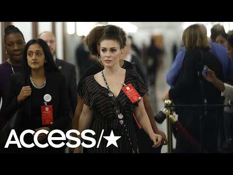 Alyssa Milano Is Criticized For Her 'Revealing' Dress At The Kavanaugh Hearing | Access