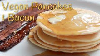Vegan Pancakes And Bacon