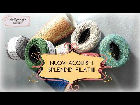 Video acquisti lana e cotone - lavori a maglia e uncinetto - Knitting store