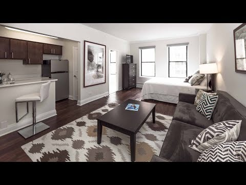 Tour a model studio apartment on the Gold Coast / Streeterville border