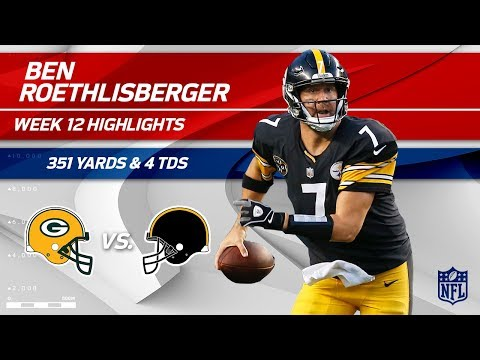 Video: Ben Roethlisberger's Ridiculous Game w/ 351 Yds & 4 TDs!   Packers vs. Steelers   Wk 12 Player HLs