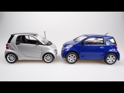 The Smart Fortwo vs the Toyota IQ