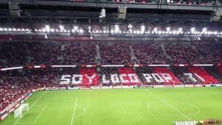 Mosaico Soy loco por ti no jogo do Atlético 2 X 1 Flamengo pela Libertadores em 26/04/17.