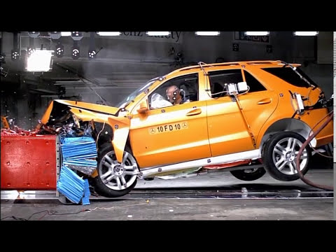 Mercedes-Benz  Crash Test new Mercedes-Benz M-Class 2012