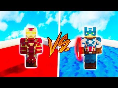 IRON MAN armor ! 🤖 vs. CAPTAIN AMERICA armor 👦 🇺🇸 ! - w/Dejzr