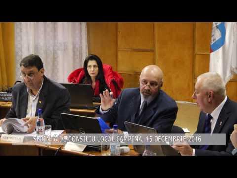 Ședința Consiliului Local Câmpina – 15 decembrie 2016