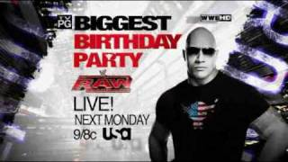 WWE Raw 5/2/11 - The Rock Celebrates His Birthday Next Week On Raw