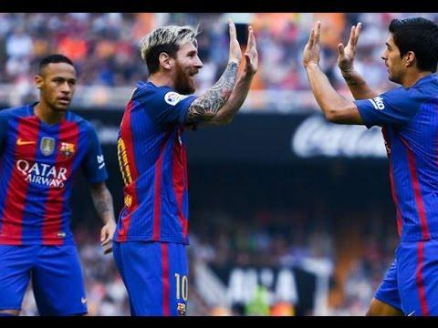 Valencia - Barcelona 2-3 Goals & Highlights 22/10/2016