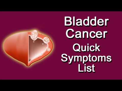 Bladder Cancer Quick Symptoms List