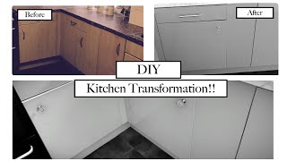 HOW TO FABLON KITCHEN CUPBOARDS | DIY HACKS | KITCHEN MAKEOVER ON A BUDGET PART 1