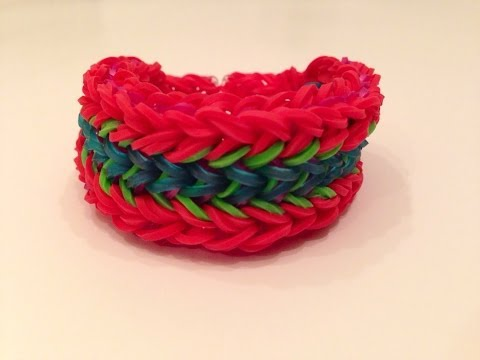 How To Make The Venom Rainbow Loom Bracelet