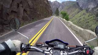 7. Kings Canyon N. P., California on Yamaha XT250