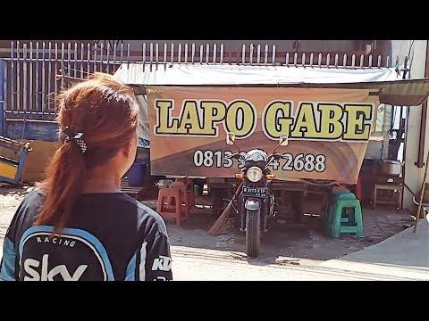 UNIK DAN KREATF... !!!  Lapo Gabe Jual Babi Panggang Diatas Motor Batak Food Makan Enak Indonesia