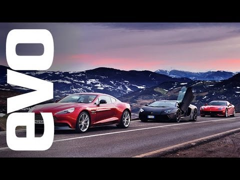 Dream Review - Ferrari F12 vs Lamborghini Aventador vs Aston Martin Vanquish [Video]