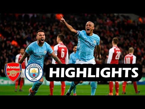 Arsenal vs Manchester City 0-3 - All Goals & Extended Highlights - 25/02/2018 HD