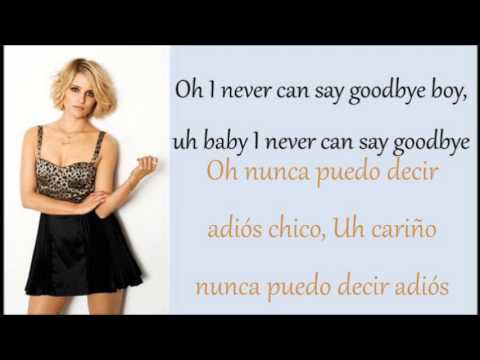 Glee: Never Can Say Goodbye (Lyrics + Español)