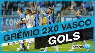 Confira os dois gols da vitória do Tricolor sobre a equipe do Vasco na Arena por 2x0, a partida foi válida pela 4ª rodada do Campeonato Brasileiro 2017. Os g...