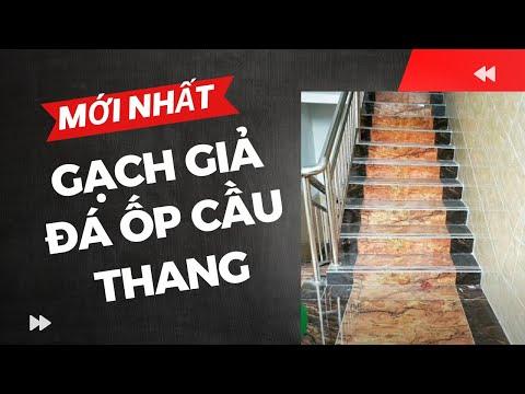 Gạch giả đá ốp cầu thang mới nhất|Gạch giả đá hoa cương