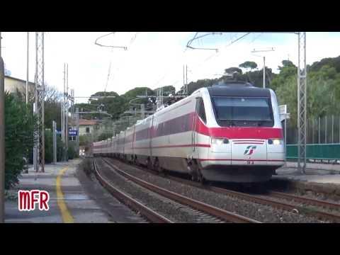 ETR 460 24 PENDOLINO in LIVREA D'ORIGINE con il FRECCIABIANCA MILANO - ROMA ad ANTIGNANO (LI).