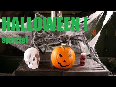 The Hydraulic Press Crushes Halloween