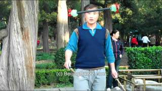 Stick tricks in JingShan Park, BeiJing 北京