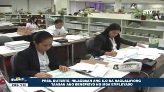 Pangulong Duterte, nilagdaan ang EO na naglalayong taasan ang benepisyo ng mga empleyado For more news, visit:...
