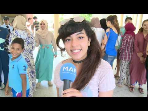 أجواء الإعلان عن نتائج امتحانات الباكلوريا بثانوية العربي الدغمي بتمارة